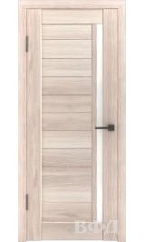 LINE 9 ( Л9ПО1) капучино стекло белое межкомнатная дверь
