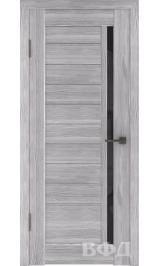 LINE 9 ( Л9ПО2) серый дуб стекло черное межкомнатная дверь