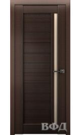 LINE 9 ( Л9ПО4) венге стекло бежевое межкомнатная дверь