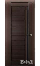LINE 9 ( Л9ПО4) венге стекло черное межкомнатная дверь