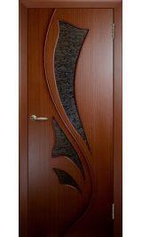 Лилия ДО (красное дерево) межкомнатная дверь (Витрина)