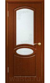 Муза ДО (красное дерево) межкомнатная дверь (Витрина)