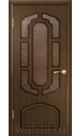 Кристалл ДО (орех) межкомнатная дверь