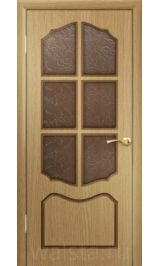 Классика ДО (светлый дуб) межкомнатная дверь (Распродажа)