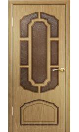 Кристалл ДО (светлый дуб) межкомнатная дверь (Распродажа)