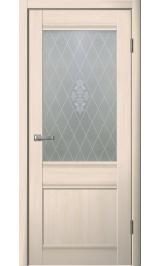 Юта 4 беленый дуб стекло матовое ромб межкомнатная дверь