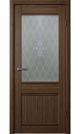 Юта 4 шоко стекло матовое ромб межкомнатная дверь
