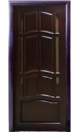 АМПИР ДБО темный межкомнатная дверь из массива сосны