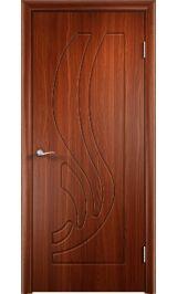 GLSigma-81 ДГ худ.матирование (итальянский орех)  межкомнатная дверь
