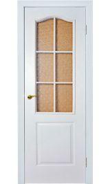 Палитра остеклен (белая) межкомнатная дверь