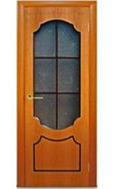 Венеция стекло (миланский орех) межкомнатная дверь (Витрина)
