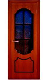 Венеция стекло (итальянский орех) межкомнатная дверь