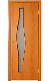 Волна ПО (миланский орех) межкомнатная дверь