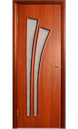 Салют ПО стекло итальянский орех межкомнатная дверь