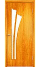 Салют ПО стекло (миланский орех) межкомнатная дверь