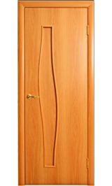 Волна глухая (миланский орех) межкомнатная дверь
