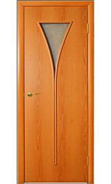 Рюмка ПО стекло)(миланский орех) межкомнатная дверь