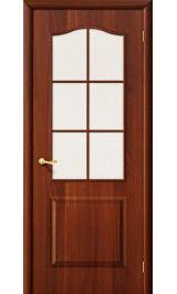 Палитра остеклен (итальянский орех) межкомнатная дверь