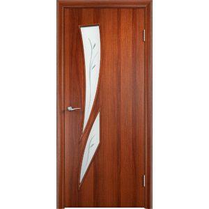 с-2ф стекло(итальянский орех) межкомнатная дверь