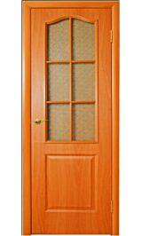 Палитра остеклен (миланский орех) межкомнатная дверь