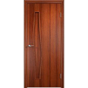 Волна глухая (итальянский орех) межкомнатная дверь