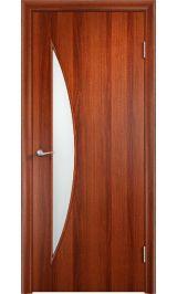 Луна ПО (итальянский орех) межкомнатная дверь