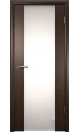 Триплекс-2 темный орех межкомнатная дверь распродажа 800 мм витрина