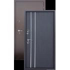 Алмаз ТЕПЛО Г-2112 Венге 91/Медь (терморазрыв на полотне) металлическая входная дверь