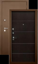 Алмаз 100 Г-2112 Венге 151/Муар металлическая входная дверь