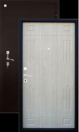 Алмаз Гранат Светл Дуб 147/Медь металлическая входная дверь