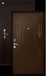 Алмаз Гранат Венге 147/Медь металлическая входная дверь