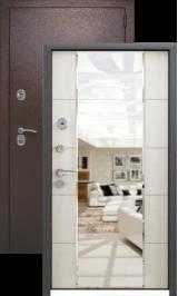 KVADRA-3K светлый венге с зеркалом металлическая входная дверь