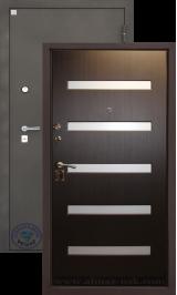 Алмаз Циркон Венге металлическая входная дверь