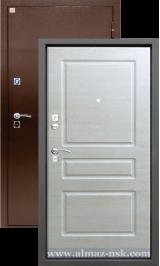 Алмаз Турмалин Капучино/Антик медь металлическая входная дверь
