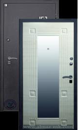 Алмаз Аметист с зеркалом металлическая входная дверь