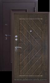 Алмаз 1 Руст металлическая входная дверь
