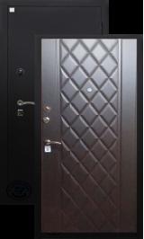 Алмаз Циркон Венге 144/Черный ящер металлическая входная дверь