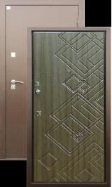 Алмаз Турмалин Палисандр/Медь металлическая входная дверь
