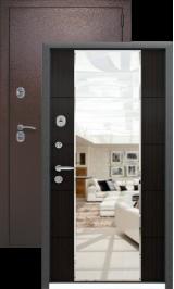 KVADRA-3K Темный с зеркалом металлическая входная дверь