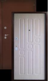Аргус лайт квадро (беленый дуб) металлическая входная дверь (Витрина) 860 пр