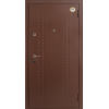 Бульдорс - 7 NEW 2 медь-шамбори светлая металлическая входная дверь