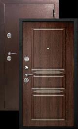 Аляска 9 см антик медь/орех темный металлическая входная дверь