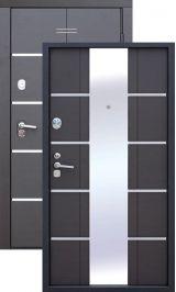 Альта тех 1 мдф венге с зеркалом + молдинг металлическая входная дверь