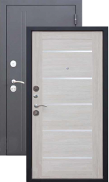 10 см Троя Серебро-Лиственница беж. металлическая входная дверь