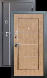 Ferrum 10 см Черный шелк/Светлый орех металлическая входная дверь