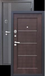 Ferrum 10 см Черный шелк/Венге металлическая входная дверь