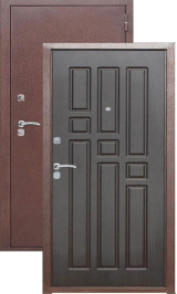 Гарда 8мм Антик медь/Венге металлическая входная дверь