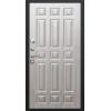Гарда 7.5 см Муар Черный шелк/Белый ясень металлическая входная дверь