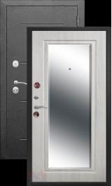 Гарда 7.5 см Серебро/Белый ясеень с зеркалом металлическая входная дверь