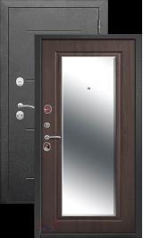 Гарда 7.5 см Серебро/Венге с зеркалом металлическая входная дверь